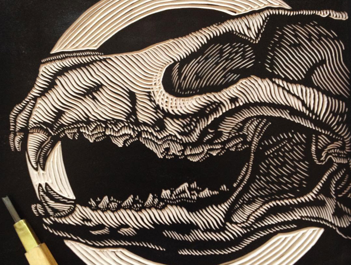 Top linocut artists to follow draw cut ink press