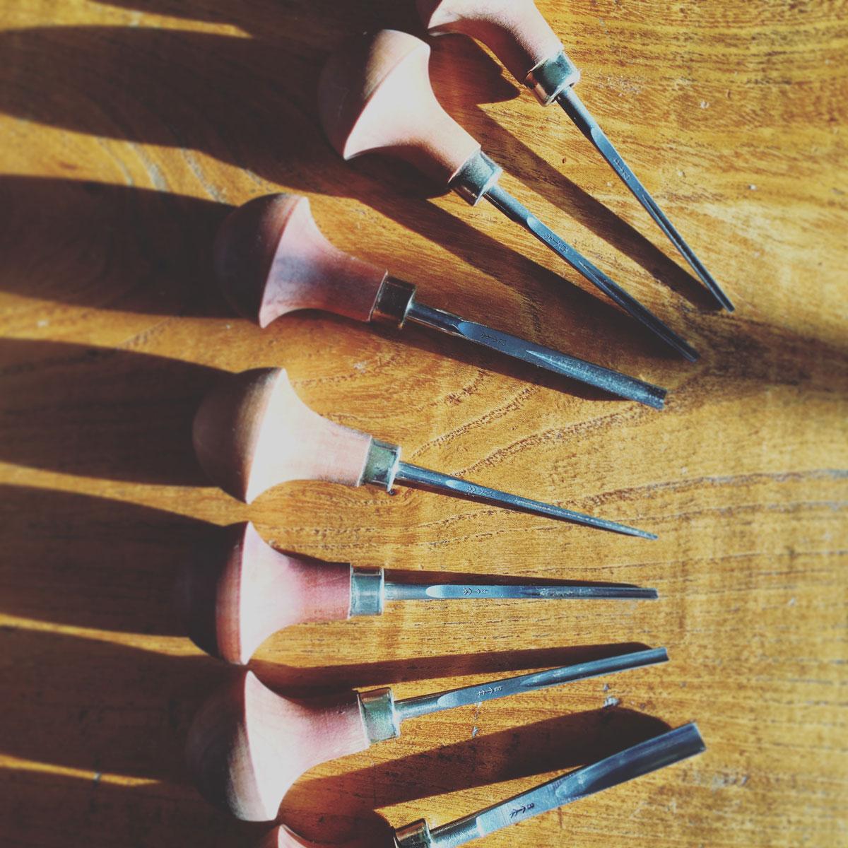 Pfeil lino cutting tools a guide by draw cut ink press