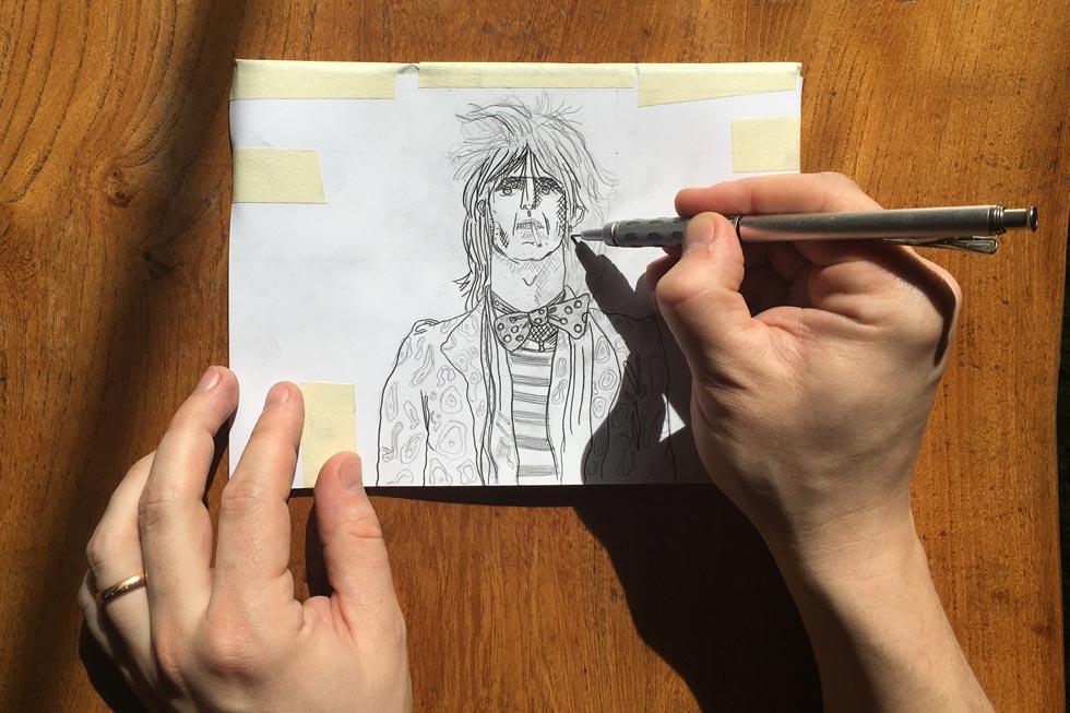 Transferring a sketch to lino