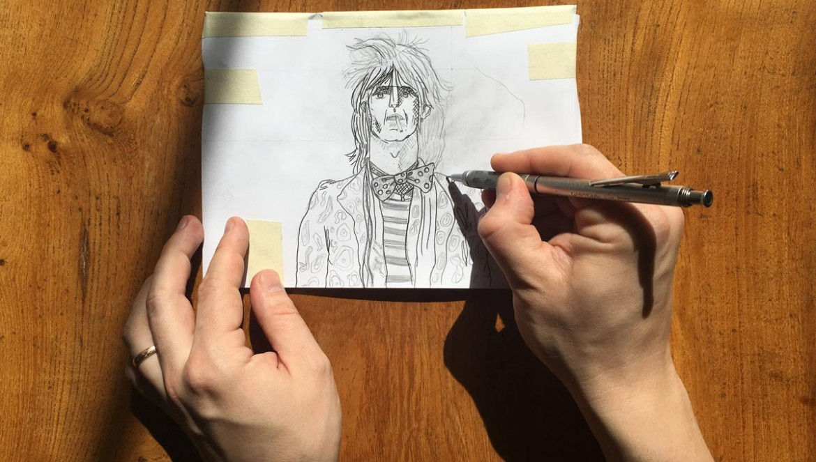 Transfer a sketch to lino - cover image