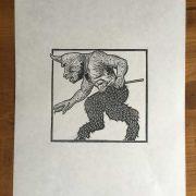 Cyclops-Linocut-Print
