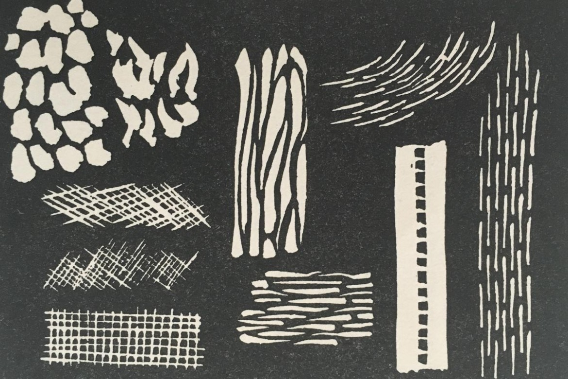 Linocutting exercises for beginners