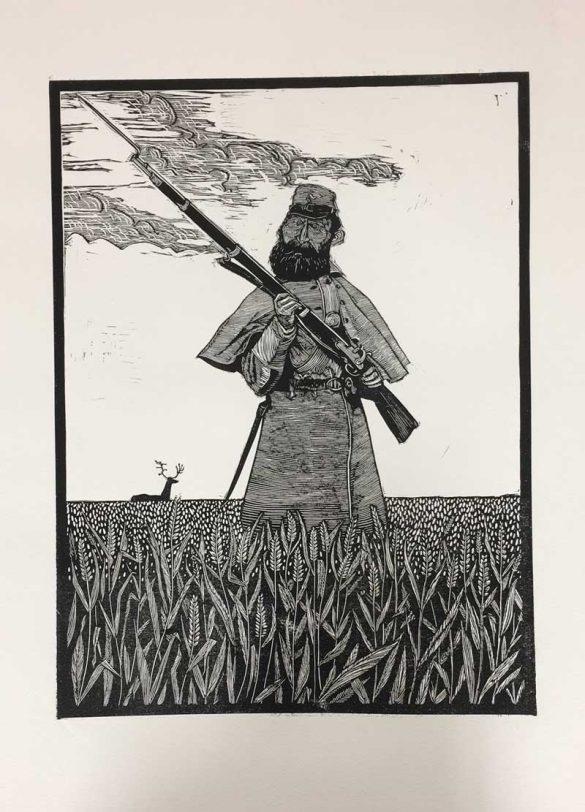 Linoprint - Oh You Animal - DrawCutInkPress