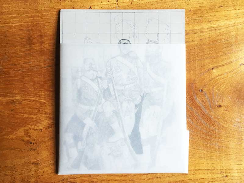 Protect your linocut pencilled design 01