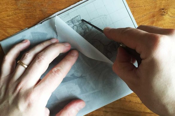 Protect your linocut pencilled design featured