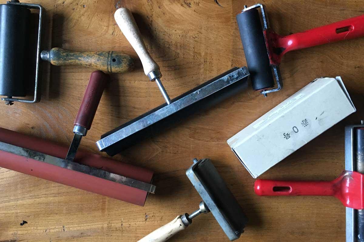 Lino Brayer 60mm Harte Gummi Tinte Farbe Roller Block Druck Werkzeug 7930A M//B