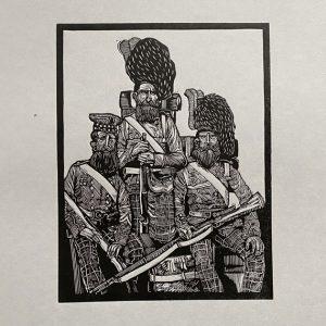 CrimeanSoldiers01-LinocutPrint-DrawCutInkPress