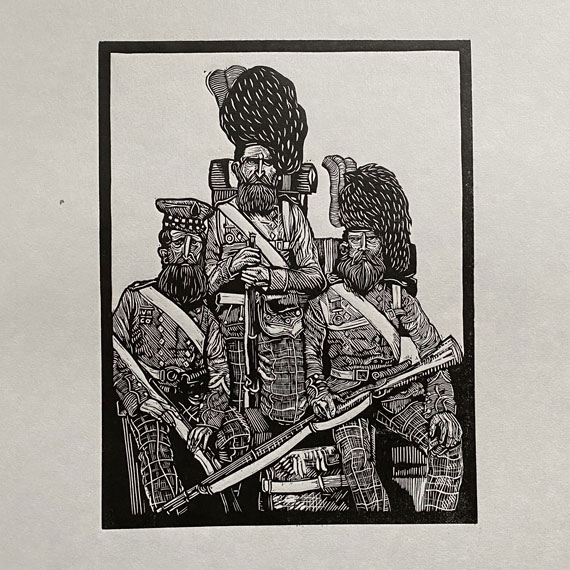 CrimeanSoldiers01-LinocutPrint-DrawCutInkPress