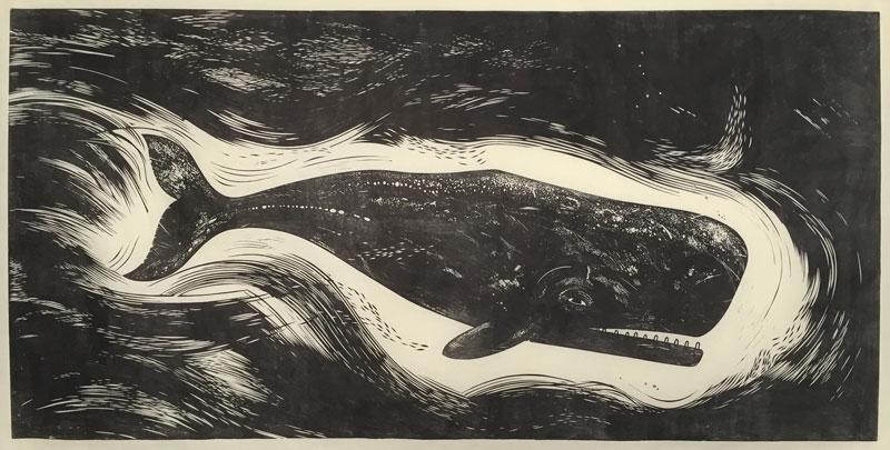 Linocutboy-Whale-print