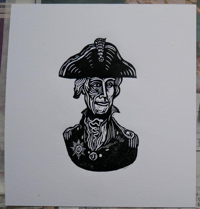 lino printing - great result