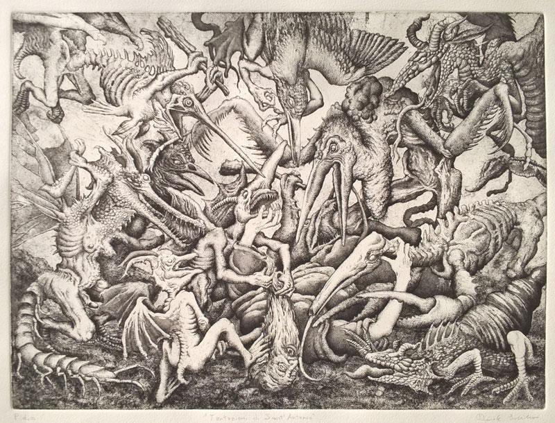 "Tabulae-etching-Tentazioni di Sant'Antonio"" (Temptations of Saint Anthony"