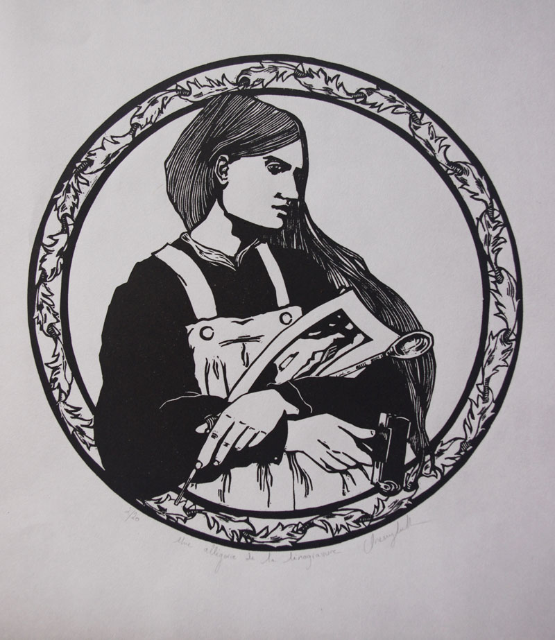 Lucie Spartacus - Allegory of Linocutting