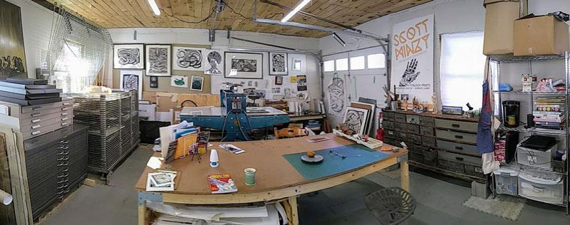 Linocut-Print-Maker-Scott-Minzy-Studio