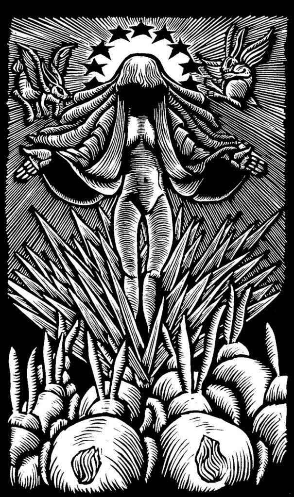 Linocut-Print-Maker-Scott-Minzy-Goddess