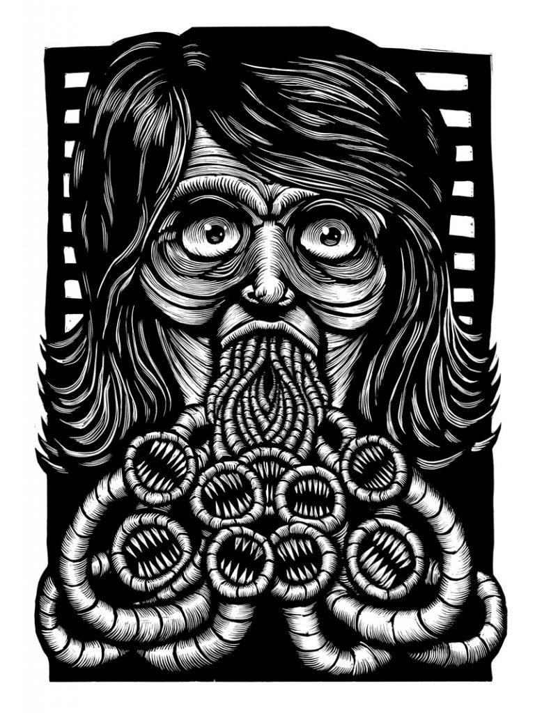 Linocut-Print-Maker-Scott-Minzy-Distrudo
